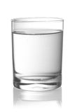 Glass with water. On white background stock photography
