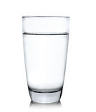 Glass of water  on white background Stock Images