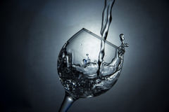 The glass of water or wine Stock Photo