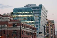 Glass waterfall design office building, Seattle, WA Stock Photo