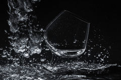 Glass in water Stock Photography