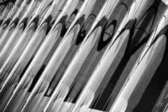 Glass wave wall. Abstract view of a glass waved wall in black and white Royalty Free Stock Photography