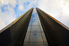 GLASS WAY TO THE TOP OF THE SKY Royalty Free Stock Photos