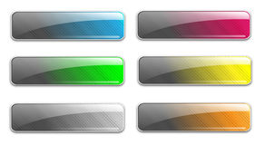 Glass web buttons Stock Photo