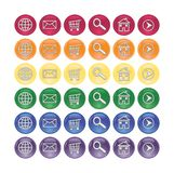 Glass Web Buttons. Set of glassy web icon buttons Stock Images
