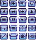Glass web buttons Stock Image