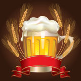 Glass of wheat beer Stock Image