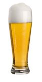 Glass of wheat beer Stock Images