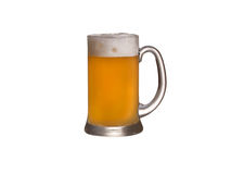 Glass of wheat beer isolated. On a white background Royalty Free Stock Photography