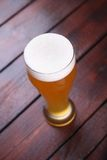 Glass of wheat beer Royalty Free Stock Photos