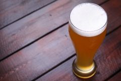 Glass of wheat beer Stock Photos
