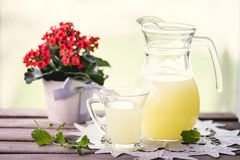 Glass of whey Stock Images