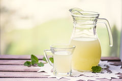 Glass of whey Royalty Free Stock Images