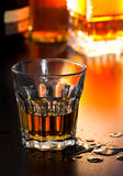 Glass of whiskey Royalty Free Stock Images