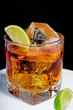 glass whiskey Arkivfoto