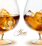 Glass of Whiskey Royalty Free Stock Photography