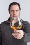 A glass of whiskey Stock Photo