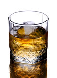 Glass of whiskey. With ice cubes Stock Image