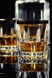 Glass of Whiskey. In bar Royalty Free Stock Photo