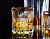 Glass of Whiskey. In bar Stock Photo