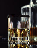 Glass of Whiskey. In bar Royalty Free Stock Photography