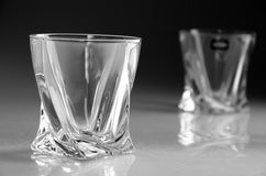 Glass for whiskey. On dark background Stock Images