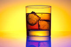 Glass whiskey. Food and beverages industries stock photo