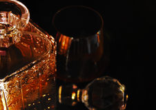 Glass of whiskey. High society relax Royalty Free Stock Image