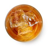 Glass of whiskey with ice Stock Images