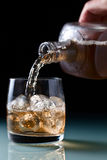 Glass with whiskey Royalty Free Stock Photos