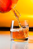 Glass with whiskey Stock Photography