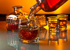 Glass with whiskey Royalty Free Stock Photo