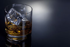 A glass of whiskey on the rocks Stock Image