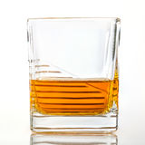 Glass of whiskey or scotch. On white background Stock Photo