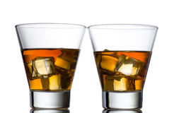 Glass of whiskey solated on white background Stock Photo