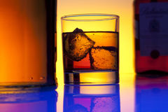 Glass whiskey Royalty Free Stock Images