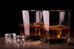 Glass with whiskey Royalty Free Stock Image