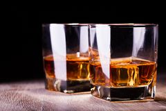 Glass with whiskey Royalty Free Stock Photography