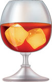 Glass from whiskeys and with ice Royalty Free Stock Image
