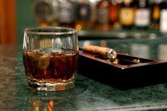 glass whisky Royaltyfri Foto