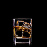 Glass with whisky Stock Image