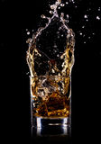 Glass with whisky Stock Photography