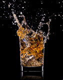 Glass with whisky Royalty Free Stock Photo