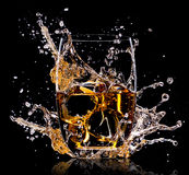 Glass with whisky Royalty Free Stock Image