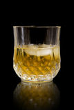 Glass of Whisky. A glass of whisky on ice royalty free stock photography