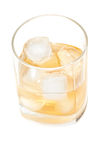 Glass of whisky above view Royalty Free Stock Photography