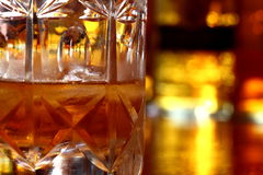 Glass of whisky D Royalty Free Stock Image