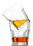 Glass with  whisky drink. isolated on a white Stock Photo
