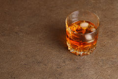 Glass of whisky Royalty Free Stock Photos