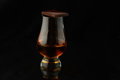 Glass with whisky Royalty Free Stock Photography